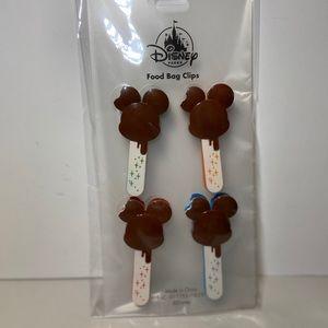 Disney Parks Mickey Bar Food Bag Clips